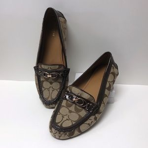 COACH Brown Fortunata Slip-on Loafers NWOT